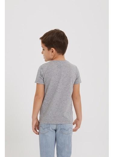 Lee Cooper Erkek Çocuk Gri Melanj T-Shirt Gri